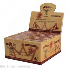Hornet Connoisseur Hemp King Size Rolling Papers Box Of 24 Papers And Tips