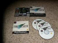 Final Fantasy VII Playstation 1 PS1 Game Pal Version Black Label Complete