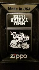 Zippo Lighter - Keeping America Strong - The Coal Miner - ZIPPO - MINT IN BOX 22