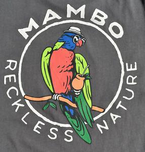 Original Vintage 100% Mambo T-shirt - Reckless Nature - Grey - Size L