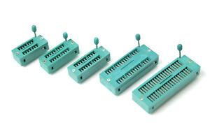 Nullkraftsockel 14 16 18 20 24 28 32 40pin ZIF Socket Pins IC Fassung Test