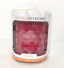 iCONCEPTS PINK WATERPROOF FLEXIBLE KEYBOARD
