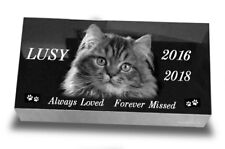 "20""х10""х3""  Pet Headstone  Laser Engraved Grave Marker Granite Natural Stone"