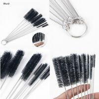 10pcs Nylon Straw Cleaners Cleaning Brush Drinking Pipe Cleaner Stainless Steel