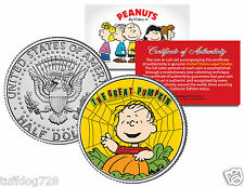 PEANUTS HALLOWEEN GREAT PUMPKIN SET From Colorized JFK Half Dollar U.S.Coin MINT