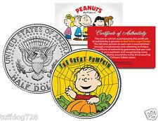 PEANUTS HALLOWEEN GREAT PUMPKIN SET From Colorized JFK Half Dollar U.S.Coin MINT