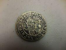 SALZBURG AUSTRIA 1681 A.D. 3  KREUZER COIN