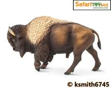 Safari 2018 BISON solid plastic toy figure wild zoo American animal * NEW *💥