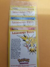 Sealed Lot of 3 Legendary Birds Promo Articuno Moltres Zapdos MINT Pokemon Cards