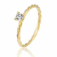 Verlobungsring Antragsring 585 Gelbgold Kordelring mit 0,20 ct Brillant