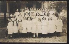 REAL PHOTO Postcard MORGANTOWN West Virginia/WV  M.P. Sunday School Class 1910