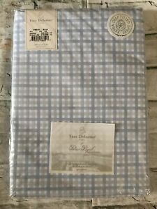 FAB! Yves Delorme for Palais Royal Pastel Blue 200th.c King Deep Fitted Sheet