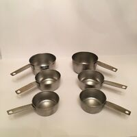 Cursive Script Handle FOLEY Stainless Measuring Cups 2 Sets 1CUP 1/2 CUP 1/3 CUP