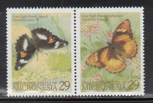 Micronesia 182-3 Butterflies Mint NH