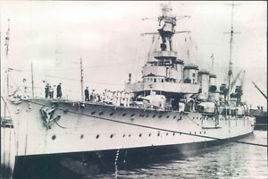 Postcard HMS Birmingham British Cruiser  Real Photo posted 1977