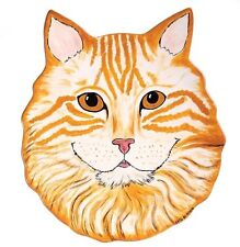 ORANG TABBY CAT-Julius- Decorative Plate-Rescue Me Now Collection--WSPA Donation