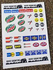 RC Rock Crawler Stickers Decals Tamiya CR-01 Axial