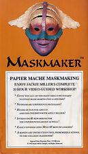 jackie miller's MASKMAKER  papier mache maskmaking   VHS VIDEOTAPE