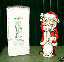 "JAPAN HAND-PAINTED 11"" SANTA BANK! ORIGINAL BOX!! READ!"