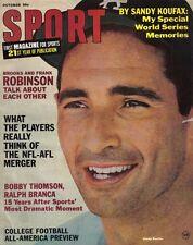 1966 (Oct.) Sport Magazine, Baseball, Sandy Koufax, Los Angeles Dodgers ~VG