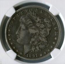 "$1 Top 100 Morgan silver dollar 1891 VAM 2A ""Doubled Ear & Mustache"" NGC"