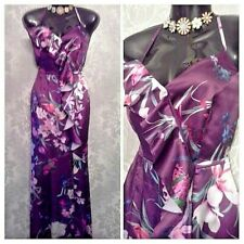 LIPSY SIZE UK 12 MAYA FLORAL CROSS BACK FRILL MAXI DRESS BNWT @ NEXT 7245 £70