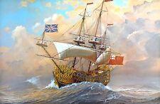 James A. Flood Print - HMS Britannia in a Gale