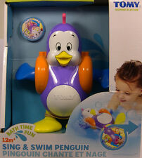 PLASTIC SING AND SWIN PENGUIN BATH TIME FUN ACTIVE PLAY TOY FOR CHILDREN by TOMY