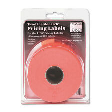 Monarch Easy Load 1136 Two Line Pricemarker Labels 58x78 Fluorescent Red 35