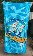 Phineas and Ferb, Beach Towel Signed by Swampy Marsh