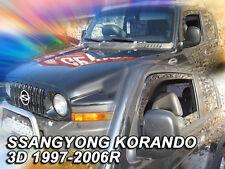 DSS28909 SSANGYONG KORANDO 3 DOOR 1997-2006 WIND DEFLECTORS 2pc HEKO TINTED