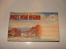 Album Views of Pikes Peak Region Souvenir 20 Postcard  Mailer 1941 Curt Teich