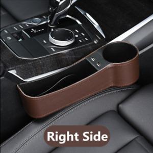 1x Car Seat Gap Slit Storage Catcher Box Caddy Pocket Organizer PU Leather USB
