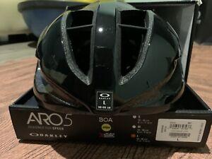 Oakley Aro5 Helmet - Black, Large, MIPS Boa New NIB Road Cycling Bicycle L aero
