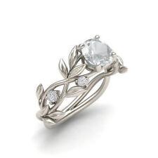 Women 925 Silver Aquamarine/Pink Sapphire/Emerald Wedding Ring Size5-11 Muse Ms