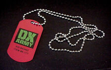 "WWE DX Army Wrestling Metal Dog Tag With 20"" Chain"