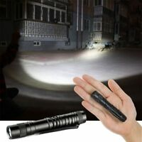 Mini LED Flashlight Pocket Clip Bright Outdoor Camping AAA Battery Micro Torch