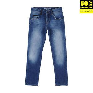 RRP €115 MARCELO BURLON KIDS OF MILAN Jeans Size M / 8Y Distressed Faded