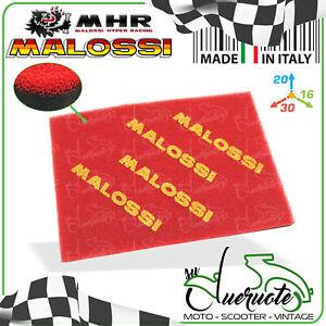 SPUGNA FILTRO ARIA MALOSSI FOGLIO A4 UNIVERSALE DOUBLE RED SPONGE MOTO SCOOTER