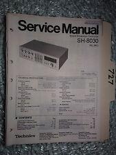 Technics sh-8030 Service Manual Original Reparatur Buch Stereo Raum EQ Equalizer