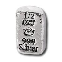 5 - 1/2 oz. 999 Fine Silver Bars - Monarch - Hand Poured - Uncirculated