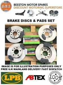 Vauxhall Astra VXR 2.0T mk5 Front Rear Brake Discs And Mintex Pads