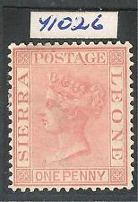 Sierra Leone 1883 rose-red 1d crown CA perf 14 mint SG24 RPS CERT Nov 1969