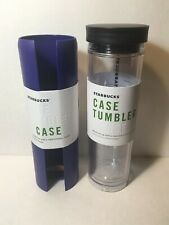 Starbucks Clear Case Tumbler and Royal Blue Case New