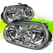FOR 99-06 VW GOLF/CABRIO MK4 CHROME CLEAR LENS OE REPLACEMENT HOUSING HEADLIGHT