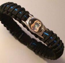 Thin Blue Line *  Paracord Bracelet * Woonsocket RI * Police