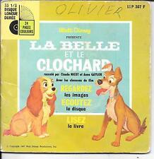 LIVRE DISQUE--WALT DISNEY--LA BELLE ET LE CLOCAHRD--CLAUDE NICOT ET ANNA GAYLOR