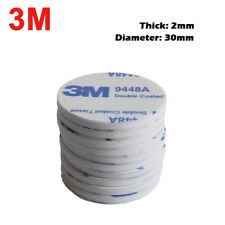 10pcs 30mm Round 3M 9448A White Double Adhesive EVA Foam Mounting Pads Circle
