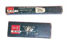 Vintage K&E Paragon Steel Spring Bow Pencil 55 1012 3 3/4 in & Wytetip Draft pen