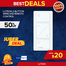 Lutron 2-Button Wireless Remote Control, 30 ft. Range,PJ2-2BRL-GWH-L01, NEW